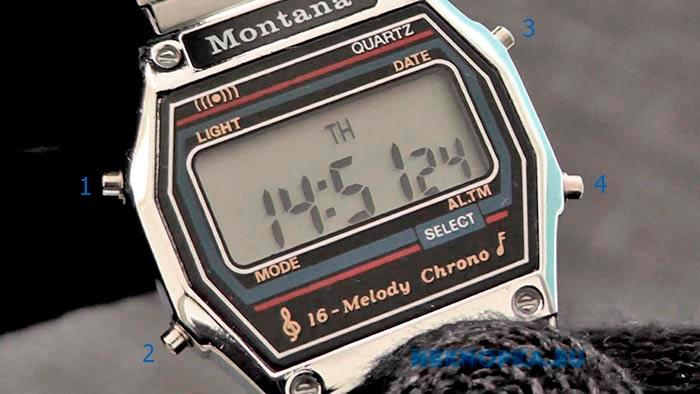 Кнопки часов Montana