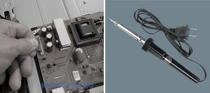 Замена конденсаторов в телевизоре
