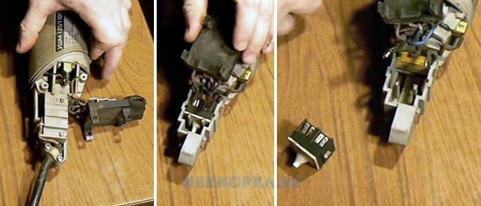 Как починить кнопку УШМ Интерскол
