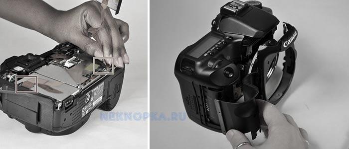 Как разобрать фотоаппарат если сломалась кнопка затвора