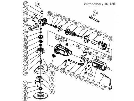 Схема устройства кнопки УШМ