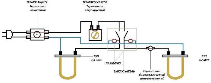 Электросхема водонагревателя Термекс с механическим управлением