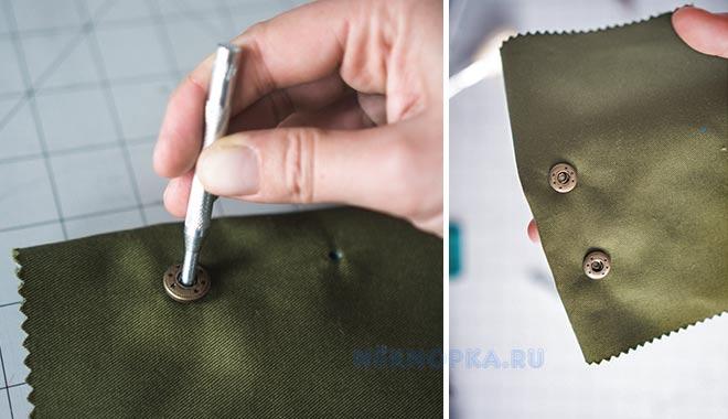 Инструкция как ставить кнопку на одежду