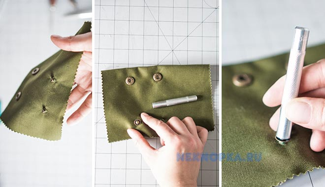 Как легко поставить кнопки на одежду