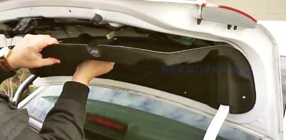 разбираем крышку багажника Шевроле Круз