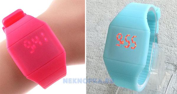 Как настроить силиконовые светодиодные наручные часы без кнопок