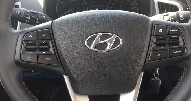 Утановка блока кнопок круиз-контроля для SuperVision Hyundai Creta