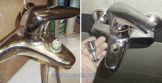 Как отремонтировать кнопку переключения излив-душ