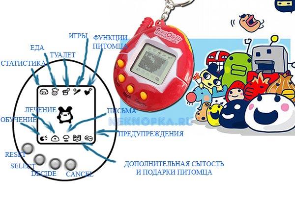 Инструкция к Тамагочи с 4 кнопками